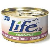Консервы для кошек с курицей и ветчиной в бульоне