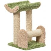 Когтеточка для кошек ковролиновая «Винни» 41*41*64 см, сизаль