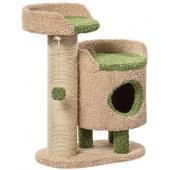 Комплекс для кошек ковролиновый «Зё» 65*42*90 см, сизаль