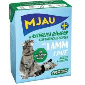 Консервы для кошек мясной паштет с ягненком