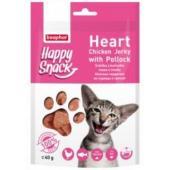 Лакомство для кошек Happy Snack Нежные сердечки из курицы и трески