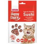 Лакомство для кошек Happy Snack Нежные суши из тунца и цыпленка