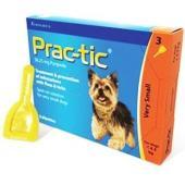 Практик капли от блох и клещей для щенков и собак: 2-4.5 кг, 3 пипетки
