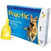 Практик капли от блох и клещей для щенков и собак: 22-50 кг, 3 пипетки