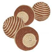 Мячик 4см. коричневый/бежевый 1 шт. (45805)