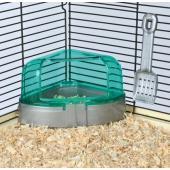 Угловой туалет для хомяка с крышкой 14*8*11/11 см (6256)