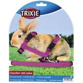 Шлейка с поводком для кроликов, нейлон (6260)