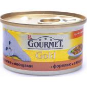 Кусочки в соусе Gourmet Gold c форелью и овощами