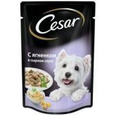 Паучи для собак с ягненком в сырном соусе