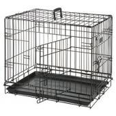Клетка  для собак черная, 2 двери 77*47*54  см