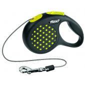 Рулетка-трос для животных до 8кг, 3м, желтая (Design XS Cord 3 m, yellow)