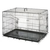 Клетка  для собак черная, 2 двери 109*70*76 см