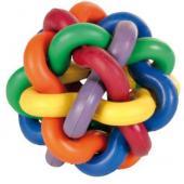 Игрушка для собак. Мяч плетёный каучук 10 см, (32622)