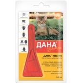 Дана Ультра от блох и клещей (для кошек и котят до 4 кг), 1 пипетка 0,32 мл