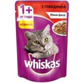 Паучи для кошек мини-филе с говядиной