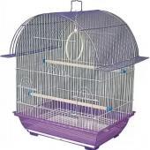 Клетка для птиц 34,5*26*44 см (1600 K), сиреневая