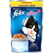 Кусочки в желе для котят с курицей
