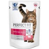 Сухой корм для взрослых кошек, с говядиной (PERFECT FIT Adult Beef)