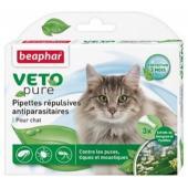 """Капли от блох и клещей """"Beaphar"""", для кошек с 12 недельного возраста, 3 шт х 1 мл"""