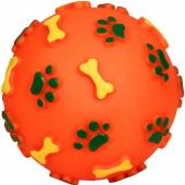 Мяч с лапками и косточками 11 см, винил (717001)