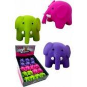 """Латексная игрушка для собак """"Цветные слоники"""", 8,5 см,"""