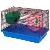 Клетка для грызунов 2-х этажная комплект, 36*24*27 см, этаж, лесенка-железо (125ж)