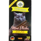 Mini Sticks лакомство «Мини палочки» для кошек (с сыром), 20х2г,