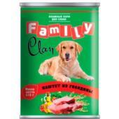 Clan FAMILY консервы для собак паштет из говядины №43
