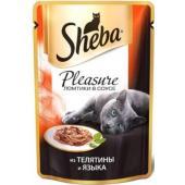 Консервы для кошек Плежер телятина и язык