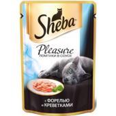 Консервы для кошек Плежер форель и креветки