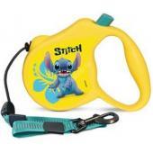 Поводок-Рулетка Stitch  S  3м до 12 кг (трос) жёлтый (WD1005)