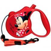 Поводок-Рулетка Minnie  S  3м до 12 кг (трос) красный (WD1003)