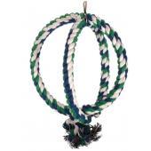 Двойное верёвочное кольцо для птиц, 22 см (0247XJ)