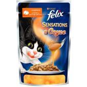 Sensations кусочки в соусе для кошек  Индейка с беконом