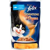 Sensations кусочки в соусе для кошек Треска с томатом