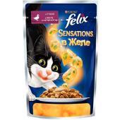 Sensations кусочки в желе для кошек с уткой и шпинатом