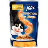 Sensations кусочки в желе для кошек  с курицей и морковью