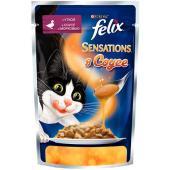 Sensations кусочки в соусе для кошек  Утка с морковью