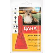 Дана Ультра капли на холку для собак и щенков 10-20 кг  1 пипетка 1,6 мл