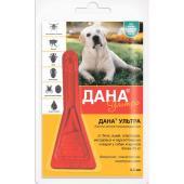 Дана Ультра капли на холку для собак и щенков более 20 кг, 1 пипетка 3,2 мл
