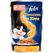 Sensations кусочки в желе для кошек с лососем и треской