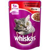 Паучи для кошек желе говядина и ягненок