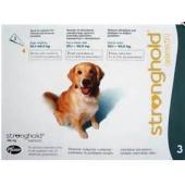 Стронгхолд капли от блох, ушных и чесоточных клещей, гельминтов для собак 20-40 кг, 3 пипетки (зеленые)