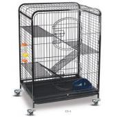 Клетка для животных, 3 полки металл 64*43,5*92,5 см (С2-1)