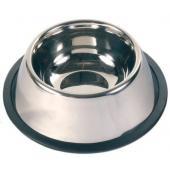 Миска металл.с резинкой для спаниеля 0.9л д.15см (2488)
