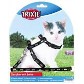 Шлейка с поводком для котят, нейлон 21/32см, 8мм.(4144)