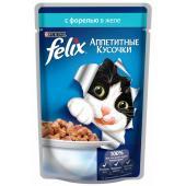 Кусочки в желе для кошек с форелью