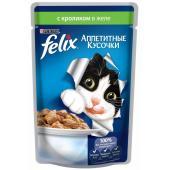 Кусочки в желе для кошек с кроликом
