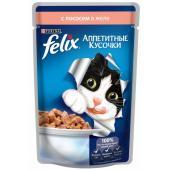 Кусочки в желе для кошек с лососем