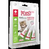 Капли репеллентные  для котят и мелких кошек весом до 2 кг , 3шт по 1 мл МК05-00350